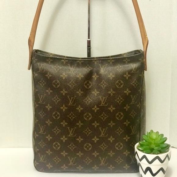 84b9c22f5ac Authentic Louis Vuitton Looping Monogram Bag